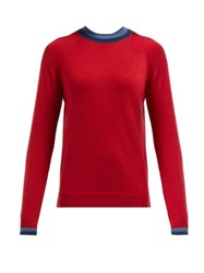 Lndr Chalet Logo Jacquard Wool Sweater Red