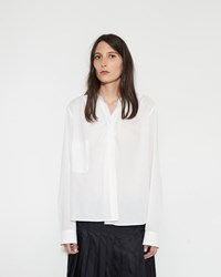 Christophe Lemaire Wrap Over Shirt White