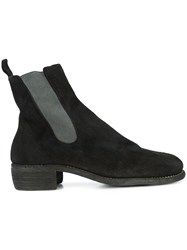 Guidi Panelled Ankle Boots Black