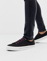 Ted Baker Esheron Canvas Trainers In Black