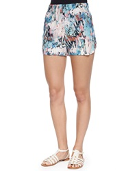 French Connection Isla Ripple Vented Shorts Daydream Multicolor
