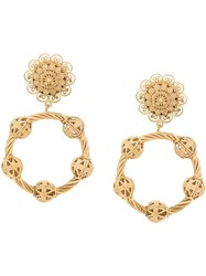 Dolce And Gabbana Twisted Hoop Earrings Gold