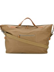 Ally Capellino 'Arron Canvas' Large Tote Holdall Nude And Neutrals