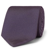 Hugo Boss 7.5Cm Micro Dot Silk Jacquard Tie Dark Purple