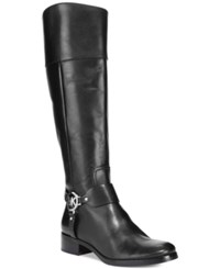Michael Kors Fulton Harness Tall Riding Boots Women's Shoes Black