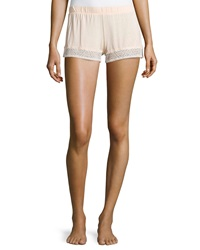 La Perla Lace Trim Straight Leg Shorts Pink
