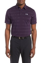 Under Armour Men's 'Playoff' Short Sleeve Polo Gooseberry Purple Steel