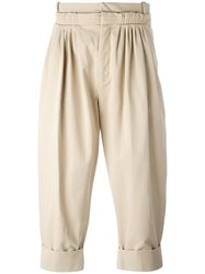J.W.Anderson Cropped Pleated Front Trousers Nude Neutrals