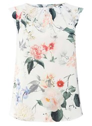 Dorothy Perkins Billie And Blossom All Over Floral Shell Top Multi Colour