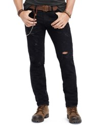 Denim And Supply Ralph Lauren Men's Slim Fit Destructed Jeans Westlynn