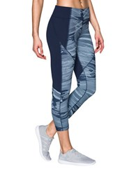Under Armour Printed Banded Waist Leggings Blue