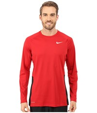 Nike Crossover L S Top Gym Red Gym Red Black White Men's Long Sleeve Pullover
