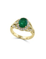 Effy Brasilica Diamond Emerald And 14K Yellow Gold Ring