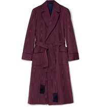 Kingsman Turnbull And Asser Moire Dressing Gown Red