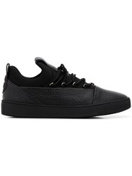 Alexander Smith Panel Lace Up Sneakers Black
