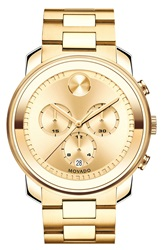 Movado 'Bold' Chronograph Bracelet Watch 44Mm Gold