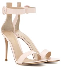 Gianvito Rossi Portofino 105 Patent Leather Sandals Pink