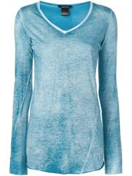 Avant Toi Fitted Long Sleeve Top Blue