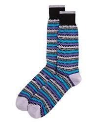 Bloomingdale's The Men's Store At Houndstooth Stripe Mercerized Cotton Blend Dress Socks Black