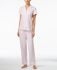 Nautica Plus Size Printed Pajama Set Port Rose