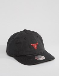 Mitchell And Ness Chukker Adjustable Cap Chicago Bulls Black