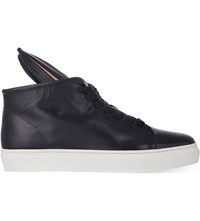 Minna Parikka Bunny Leather High Top Trainers Blk White