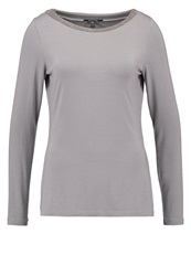 Comma Long Sleeved Top Light Grey