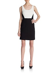 4.Collective Two Tone Basketweave Dress Ivory Black