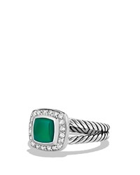 David Yurman Petite Albion Ring With Green Onyx And Diamonds