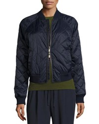 Vince Diamond Quilted Bomber Jacket Olive
