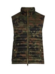Burberry Camouflage Print Down Filled Gilet Green Multi
