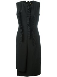 Comme Des Garcons Fitted Dress Women Polyester M Black
