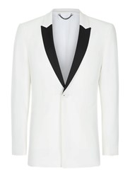 Topman Cream Off White Contrast Lapel Skinny Fit Tuxedo Jacket