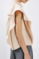 Boutique Drape Funnel Top By Blush