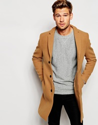 Selected Homme Cashmere Overcoat Camel