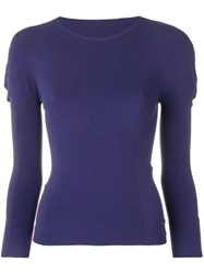Issey Miyake Pleats Please By Stretch Fit Jumper Blue