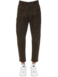 Dsquared 16Cm Sexy Cargo Cotton Twill Pants Military Green