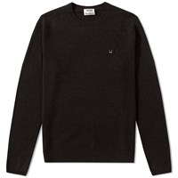Acne Studios Dasher Face Crew Knit Black