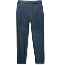 Theory Terrance Tapered Woven Trousers Navy
