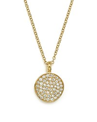 Ippolita 18K Yellow Gold Stardust Flower Pendant Necklace With Diamonds 18 White Gold