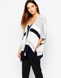 Warehouse Stripe Rectangle Cardi Multi