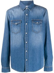 Givenchy Classic Denim Shirt Blue
