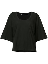Isabel Benenato Bell Sleeve Top Women Cotton 42 Black