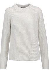 Proenza Schouler Oversized Cotton Cashmere And Wool Blend Sweater Ivory
