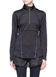 2Xu 'Thermal Active Long Sleeve 1 4 Zip' Performance Top Black