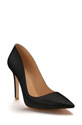 Shoes Of Prey Women's Pointy Toe Pump Black Calf Hair
