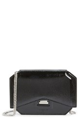 Women's Givenchy 'Bow Cut' Patent Leather Wallet On A Chain Black