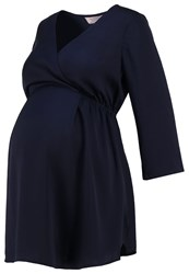 Dp Maternity Tunic Navy Dark Blue