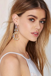 Nasty Gal Heavenly Body Asymmetrical Earrings