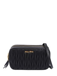 Miu Miu Quilted Leather Camera Bag Black